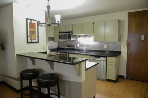 One Bedroom Kitchen with Granite Countertops