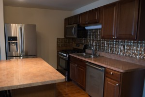 One Bedroom Kitchen with Stainless Steel Appliances