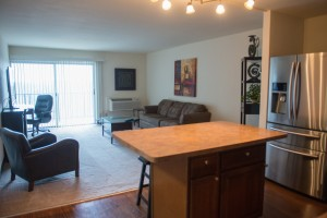 Furnished One Bedroom with Stainless Steel Appliances