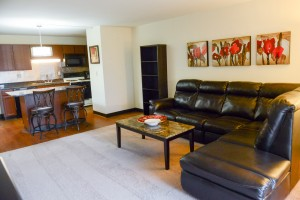 Furnished One Bedroom with Granite Countertops